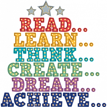 Classroom Banner | Read, Learn, Think, Create, Dream, Achieve Banner.