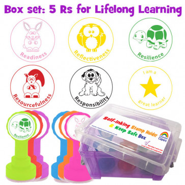 Teacher Stamps | The 5 Rs for Lifelong Learning Box Set - Box Set of 6 Stamps