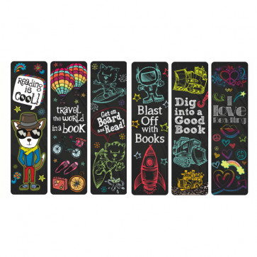 Kids Bookmarks | School pack of 36 - Reading Rocks Cool Designs