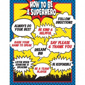 School Posters | How to be a Superhero Poster
