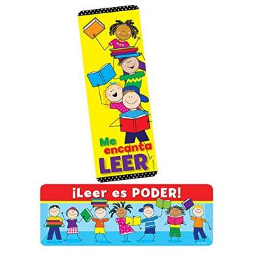 Teacher Bookmarks   ¡Leer es Poder! (Reading is Power!) Spanish Bookmarks