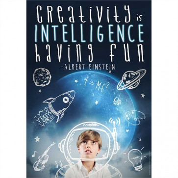 School Posters | Creativity is Intelligence Having Fun Classroom Poster