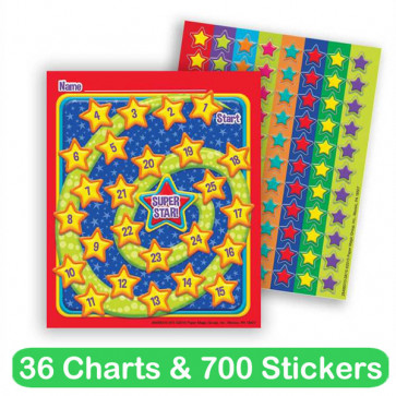 Reward Chart Set | 36 Charts and 700 Co-ordinating Star Stickers