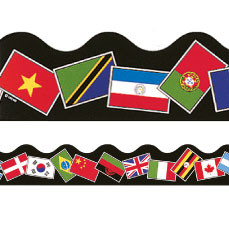 Decorative Trimmers / Borders | World Flags