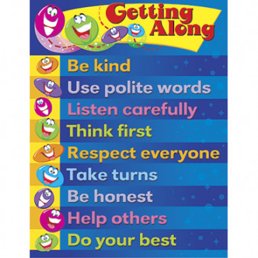 Educational Posters | Getting Along Guidelines PSHE School Poster