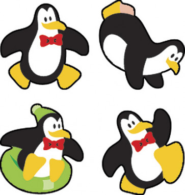 Perky Penguins Primary Stickers