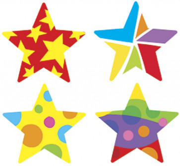 Star Medley Reward Stickers for the Classroom