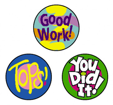 Cheer Words School Stickers for Teachers | Praise Stickers
