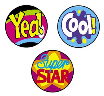 Cool Words School Stickers for Children | Praise stickers