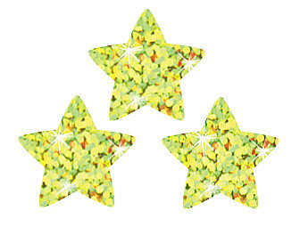 Stickers for School | Gold Stars Sparkle Stickers for Children