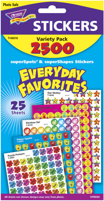 Everyday Favourites Classroom Sticker Pack for Kids