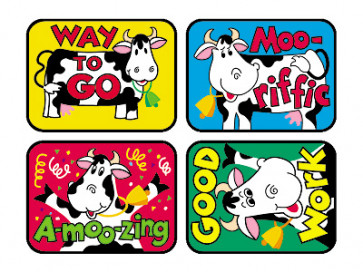 Childrens Stickers - Cool Cows