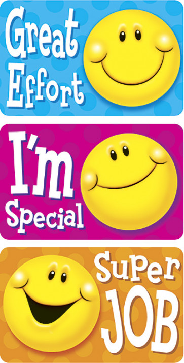Smiley Statements Sticker Badges for Kids