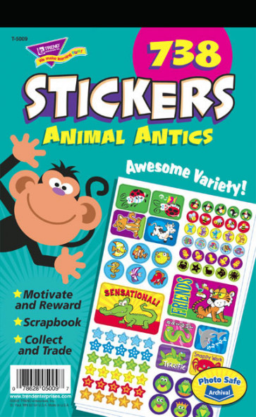 Animal Antics Kids Stickers