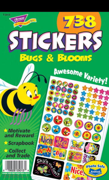 Bugs & Blooms School Stickers for Teachers