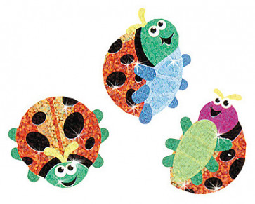 Kids Stickers | Luminous Ladybirds Sparkle Stickers