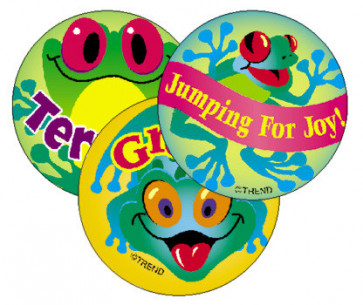 Teacher Stickers | Frolicking Frogs Scratch n Sniff Smelly Reward Stickers.