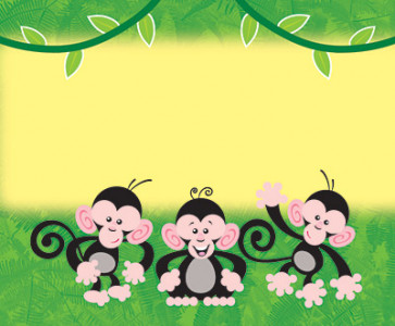 Name Badges | Monkey Mischief Name Tags or Resource Label Stickers