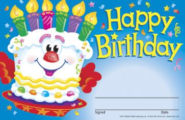 School Certificates | Happy Birthday Cake Certificates