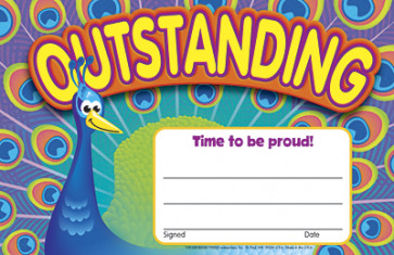 School Certificates | Outstanding-Peacock Achievement Certificate