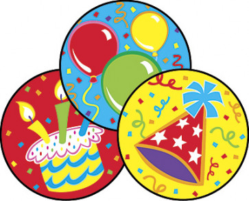 Kids Smelly Stickers | Big Birthday Scratch and Sniff Stickers (Icing Scented) - Free delivery UK & EU