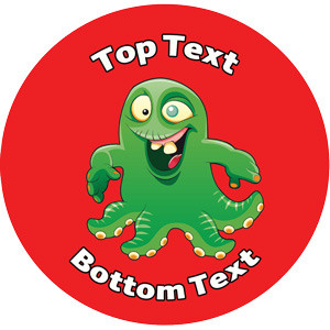 Personalised School Stickers   Crazy Eye Alien Design Custom Standard and Scented Stickers