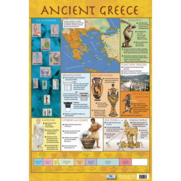 School Educational Posters | Ancient Greece Chart Poster