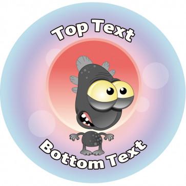 Personalised School Stickers | Boggle Eyed Alien! Design Custom Standard and Scented Stickers