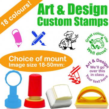 Custom Stamps | Art & Design Teacher Stamps