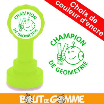 Tampons Encreurs   CHAMPION DE GEOMETRIE - Tampons de Bout de Gomme