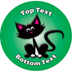 Personalised School Stickers   Lucky Black Cat Design Custom Standard and Scented Stickers