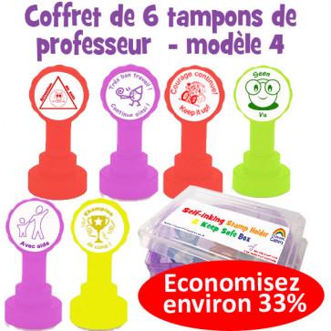 Coffret de tampons modèle 4 pour annotations et messages d'encouragement en Français