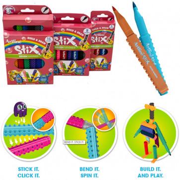 Stix Pens   Packs of Brush Nib Colouring Pens