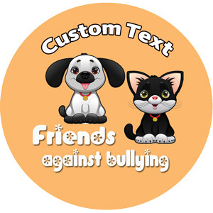 Personalised School Stickers | Friends Against Bullying Design Custom Standard and Scented Stickers