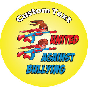 Personalised School Stickers | United Against Bullying Superhero Design Custom Standard and Scented Stickers