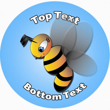 Personalised School Stickers   Busy Bee Design Custom Standard and Scented Stickers