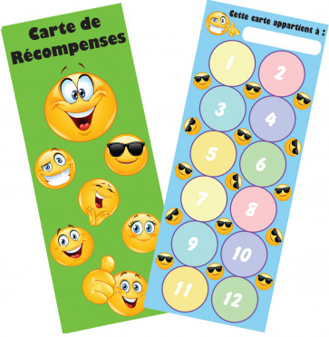Reward Charts | Emoji French Language Reward Bookmark / Sticker Reward Chart