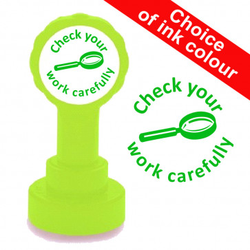 Teacher Stamp | Check your work carefully. Self-inking Stamper