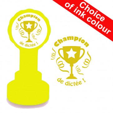 French Teacher Stamp | Champion de dictée MFL Stamp