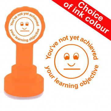 Teachers Stamps | You've not yet achieved your learning objective, teacher self-inking stamp