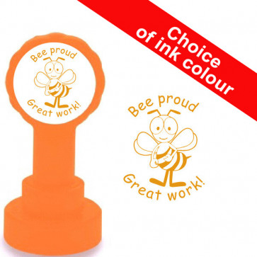Teacher Stamp | Bee Proud Great Work. Choice of Colour.