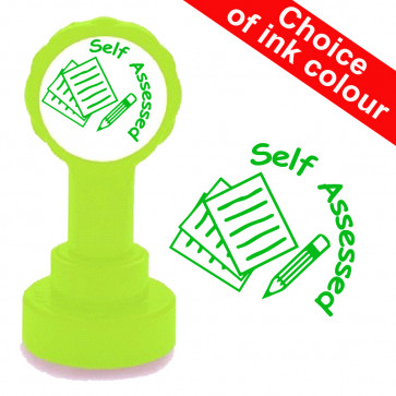 Teacher Stamp | Self assessed. Xclamations School Stamp.