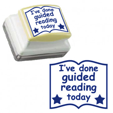 Teacher Stamps | I've done guided reading today, blue ink