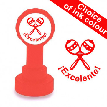 Teacher Stamps | ¡Excelente! Spanish School Stamp