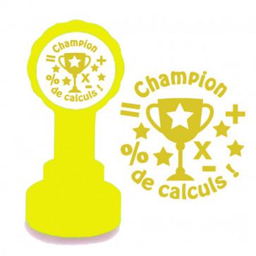 Tampon encreur   Champion de calculs Tampon Pour Enseignants