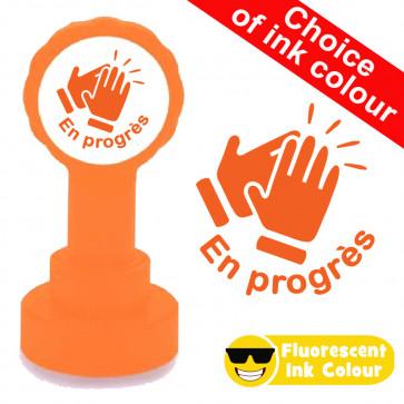 Teacher Stamps | En progrès !  French Language, Fluorescent Ink!