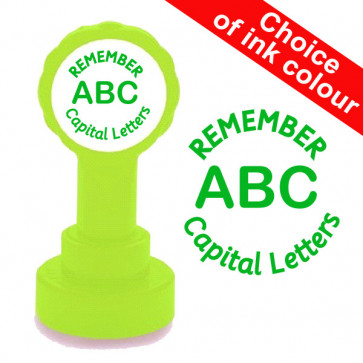 Teacher Stamp   Remember Capital Letters. Quality Xclamations Stamp