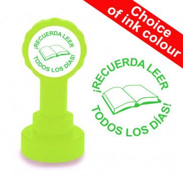 Teacher Stamp | ¡RECUERDA LEER, TODOS LOS DÍAS! Spanish Teacher Stamp