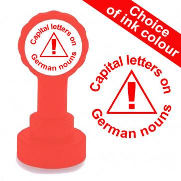 Teacher Stamp | Capital letters on German nouns Teacher Stamp