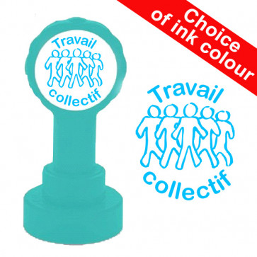 Teacher Stamps   Travail collectif - Self-Inking Xclamations French School Stamp